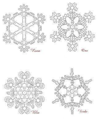 FREE DIAGRAMS ~ Crochet snowflakes ~