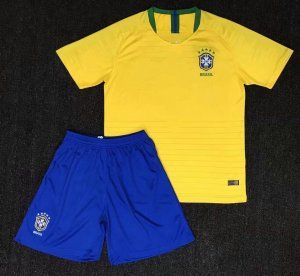 best service f90d7 9cf33 2018 World Cup Youth Kit Brazil Home Replica Yellow Suit ...