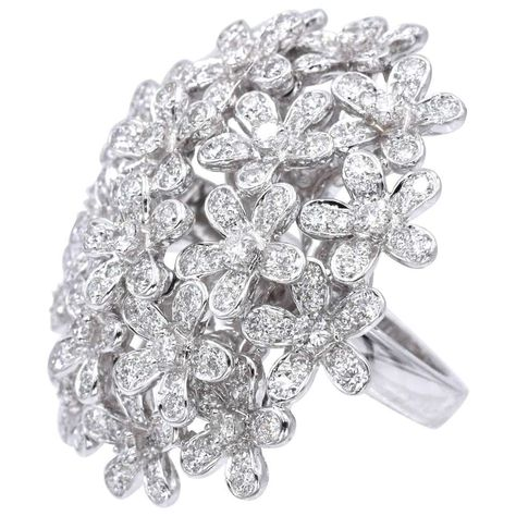 afc3def1407ca Van Cleef and Arpels Diamond White Gold Socrate Bouquet Ring ...