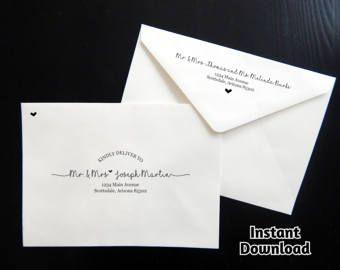 Printable Envelope Addressing Template Wedding Addressed Envelope We Envelope Addressing Template Addressing Wedding Invitations Wedding Invitation Envelopes