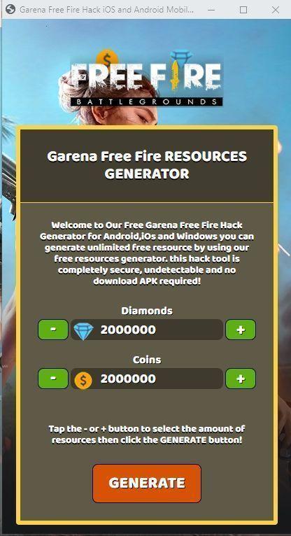 Free Fire Online Generator Tool : online, generator, Saves