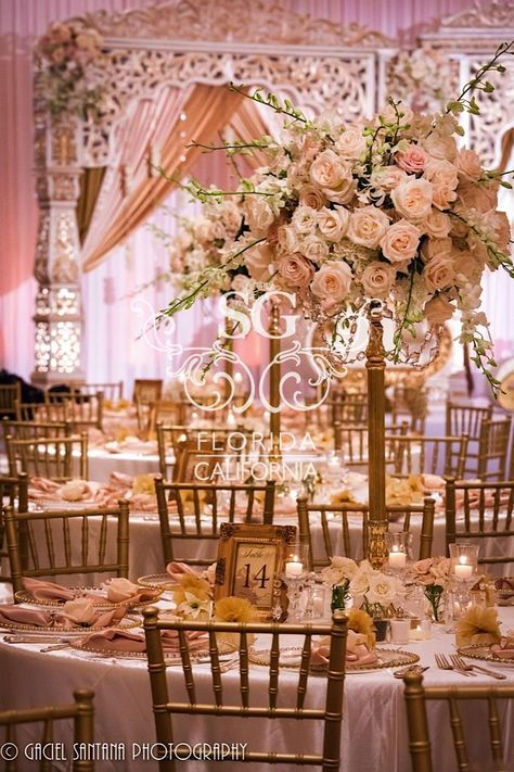 pictures of table decorations for a wedding reception with diamante - Google Search
