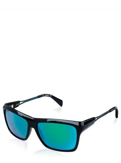 polarisierende Goggle Lunettes de soleil Lunettes de sport, schwarz + grün