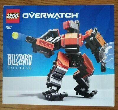 New Sealed Lego Overwatch 75987 Omnic Bastion