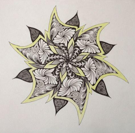 Zentangle Mandala by Sharon Robinson