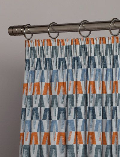 Kemble In 2020 Orange Curtains Bedroom Curtains With Blinds Made To Measure Curtains