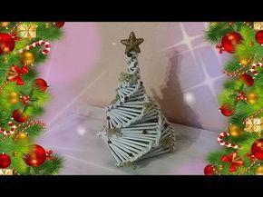 Immagini Natalizie Youtube.Albero Di Natale Fatto Con Le Cannucce Si Carta Youtube