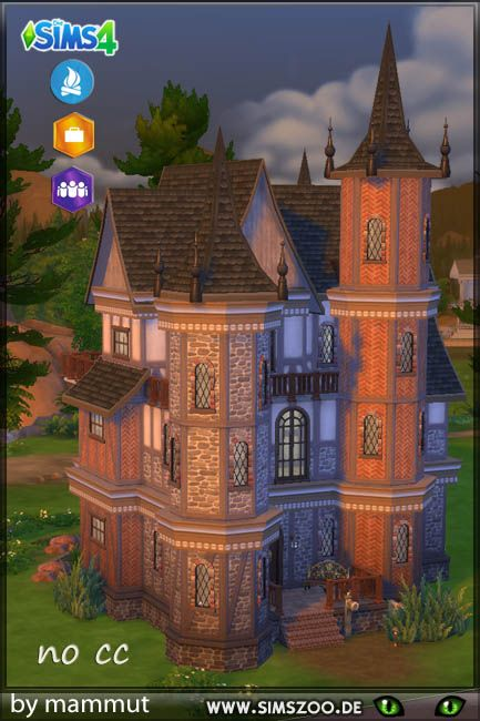 Burg Pinea Sims Haus Sims 4 Hauser Und Sims 4 Hauser Bauen