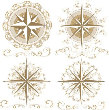 Wind rose Royalty Free Stock Vector Art Illustration