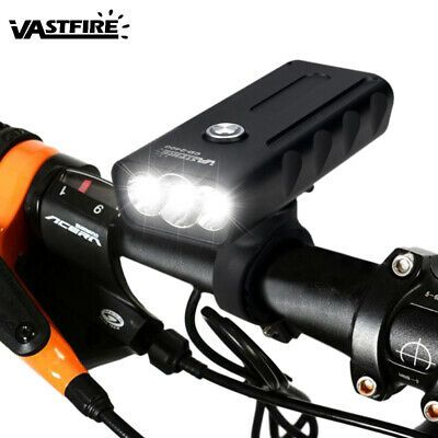 Usb Rechargeable Road Bike Headlight Bx3 Led Front Light 2400 5200mah Battery K Ebay Bike Headlight Bike Led Bicycle Lights