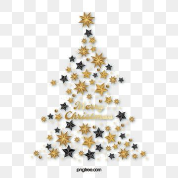 Black Gold Textured Star Christmas Tree Golden Stars Christmas Tree Png And Vector With Transparent Background For Free Download Merry Christmas Vector Gold Texture Christmas Tree