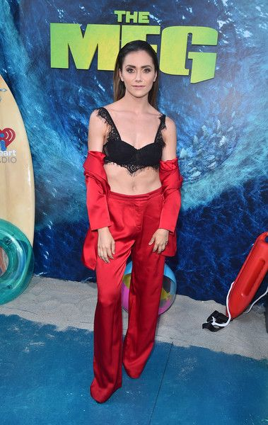 Alyson Stoner attends the premiere of Warner Bros. Pictures and Gravity Pictures' 'The Meg.'