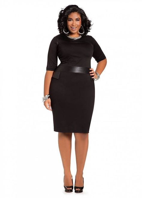 Mesh Stripe Skater Dress Ashley Stewart (With images) | Plus