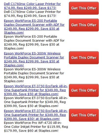 Staples Printer Coupons Save When You Order A Printer From Staples Com Savings Of Almost 200 Staples Coupon Offers Staples Coupons Coupon Codes Promo Codes