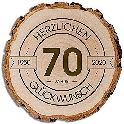 Daro Design Baumscheibe Mit Rinde Und Gravur Grosse S 16 19cm