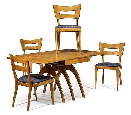 HEYWOOD WAKEFIELD WHALEBONE EXTENSION DINING TABLE