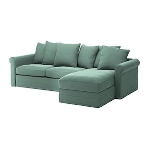 Gronlid Sleeper Sofa With Chaise Ljungen Light Green Lit Confortable Canape Profond Ikea