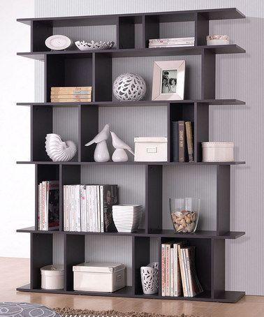 Modern Bookshelf An Essential Ingredient For Modern Homes Modern Bookshelf Love This Dark Brown Tilson Mode Modern Bookshelf Modern Bookcase Bookshelf Design