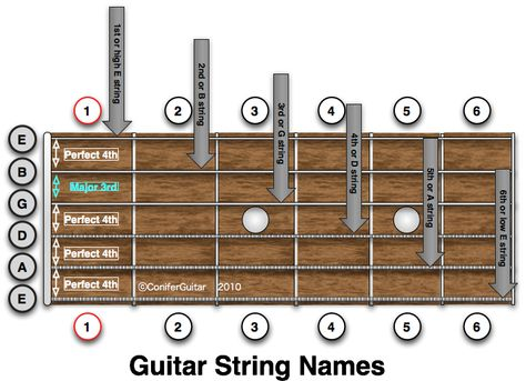 Phenomenal This Diagram Shows The Names Of The Strings Of The Guitar And The Wiring Database Indigelartorg