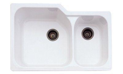 Rohl Allia 33 X 22 Double Basin Undermount Kitchen Sink Finish