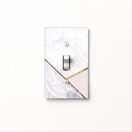 Rose Gold Marble Swirl Blush Pink Bronze Glam Light Switch Cover Zazzle Com In 2020 Light Switch Covers Rose Gold Marble Glam Lighting