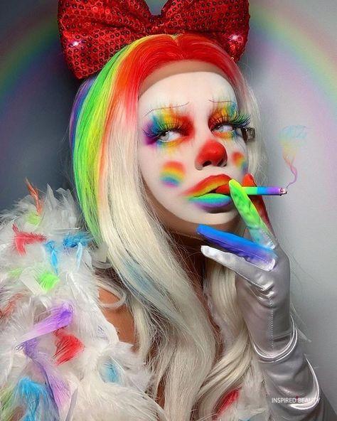 Edgy Makeup, Dark Makeup, Fx Makeup, Crazy Makeup, Cute Makeup, Kawaii Makeup, Creepy Clown Makeup, Halloween Makeup, Halloween Clown