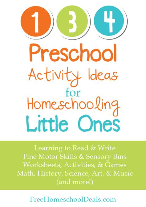 134 Preschool Activity Ideas for Homeschooling Little Ones #homeschool #preschool