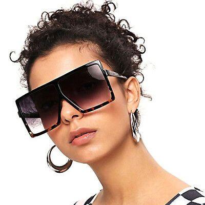 Big Frame Shades Fashion Large Eye Glasses Oversized Womens Sunglasses