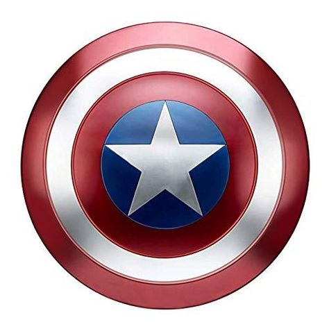 Captain America Shield for Adults 1:1 Replica Cosplay Props Metal - Red Blue White