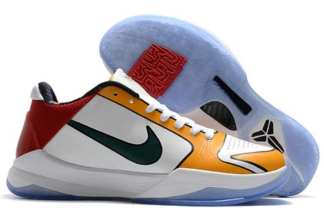 2020 Nike Zoom Kobe 5 Los Angeles White Yellow Red In 2020 Nike Zoom Kobe Kobe Nike Zoom