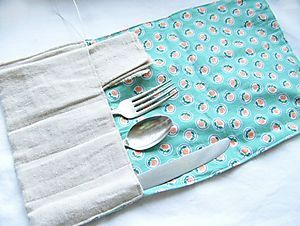 To be able to use REAL flatware in a lunch kit...plus built in placemat!