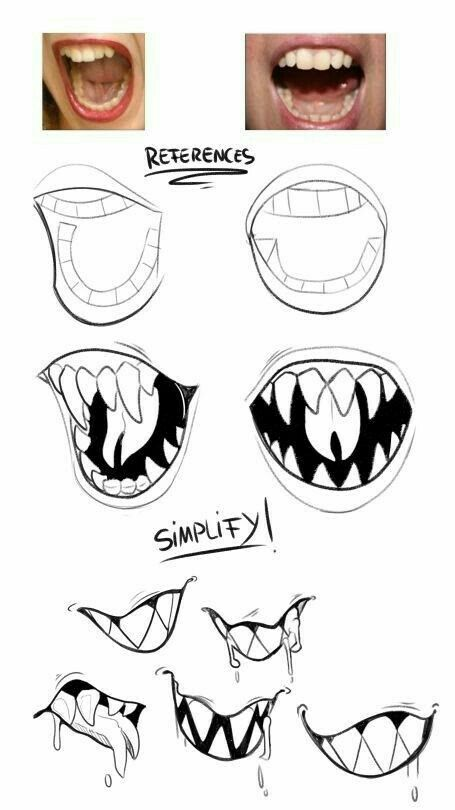 Pin By Lee Whiro On Perspective Drawing Tutorial Mouth Drawing Drawing Reference