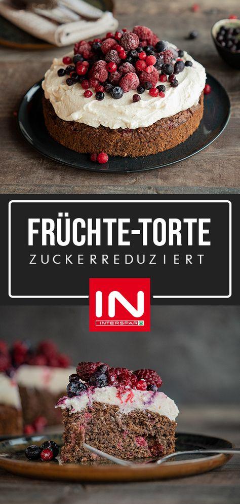 Diese Zuckerreduzierte Torte Ist Komplett Ohne Weissen Industriezucker Und Weisses Mehl Die Susse Lebensmittel Essen Kuchen Und Torten Kreative Kuchen