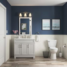 Style Selections Gladmere 36 5 In Dove Gray Single Sink Bathroom