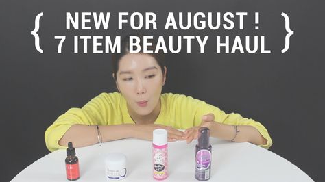 New for August ! 7 Item Beauty Haul.