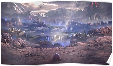 Super Smash Bros Ultimate Lonely Kirby World Of Light Story Mode Poster Smash Bros Super Smash Bros Super Smash Brothers