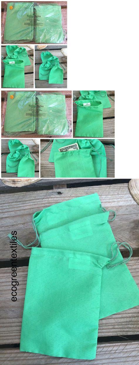 Art Craft Bags 50 //100 3x5 inches WHITE Cloth Muslin Drawstring Bags Qty 25