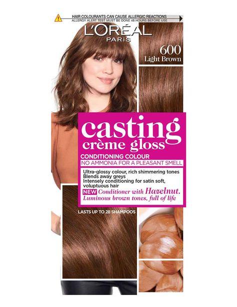 Casting Creme Gloss 600 Light Brown 600 Light Brown Cabelo Com Franja Cabelos Estilosos Cabelo Marrom