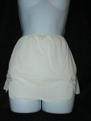 e9621db82 Vintage Granny Panties Ivory Sheer Nylon Mushroom gusset Sz 5 24