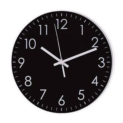 Quartz 10 Modern Black Wall Clock Indoor Non Ticking Silent Movement Wall Clock Black Wall Clock Wall Clock Digital Wall Clock
