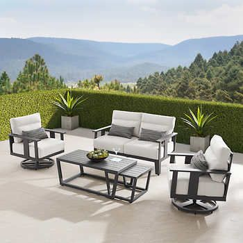 Malaga 5 Piece Seating Set Patio, Outdoor Furniture Seating Sets