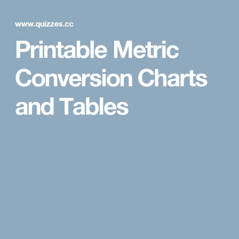 List Of Pinterest Metric Conversion Chart Chemistry Images Metric