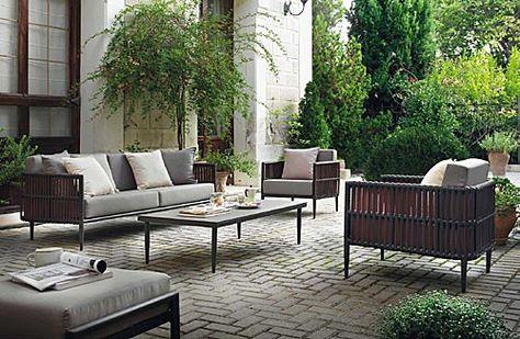 Conjunto Sofa Exterior En 2019 Asientos Al Aire Libre Muebles Y