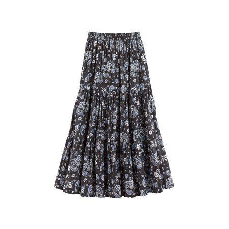 Catalog Classics Catalog Classics Women S Paisley Print Reversible Broomstick Skirt 36 Maxi Walmart Com In 2020 Broomstick Skirt Skirts Sassy Skirt