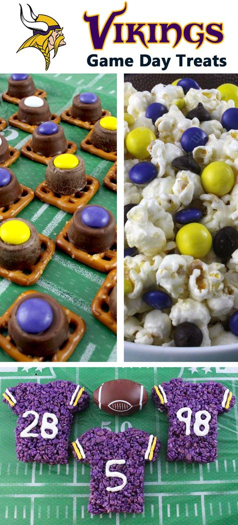 If you are a Minnesota Vikings fan and it is Game Day, you'll want to make one (or all) of our Minnesota Vikings Game Day Treats for your football watching family members. These are fun Purple and Yellow football desserts that are perfect for a game day football party, an NFL playoff party or (hopefully!!!) a Super Bowl party. Follow us for more fun Super Bowl Food Ideas.