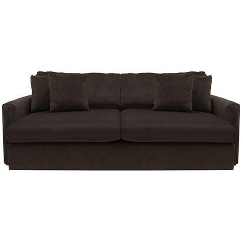 Tara2 Dark Brown Microfiber Sofa