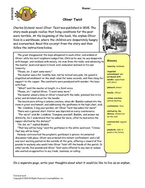 Oliver twist course work free help with homework
