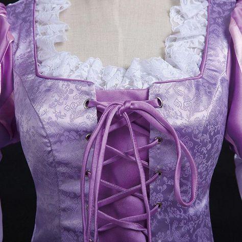 Tangled Rapunzel Dress, Princess Rapunzel Cosplay Costume for Adult Wo – Coserz
