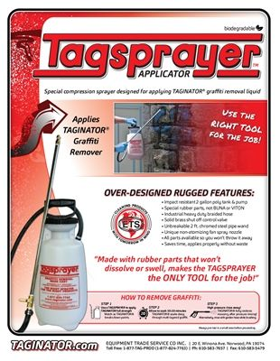 Tagsprayer Is Our Custom Designed Pump Up Sprayer To Be Used With Taginator Don T Waste Money On Other Sprayers That Will Fail You All Parts On Our Tagsprayer Are Replaceable And Stand