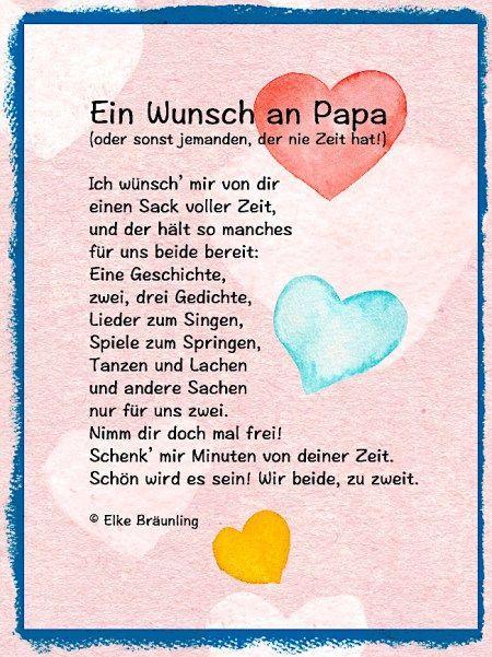 Ein Wunsch An Papa Vatertag Sprüche Vatertag Gedichte Und